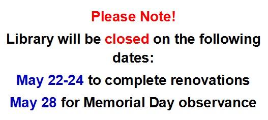 May 2018 Closings