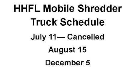 Mobile Shredder Truck Dates